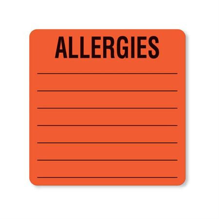 Patient Chart Allergies Labels