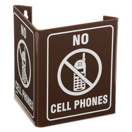 V-Shape No Cell Phones Sign