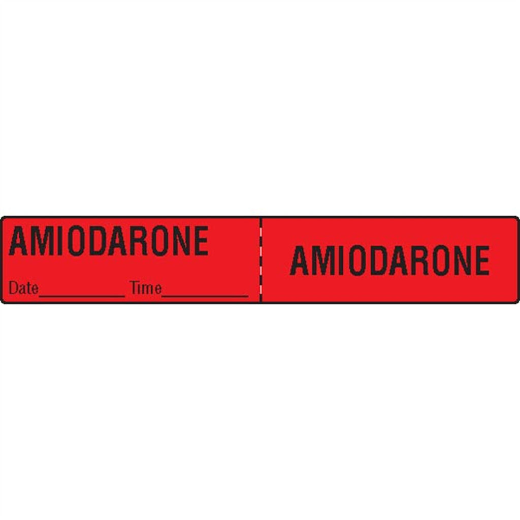 IV Tubing Medication Labels - Amiodarone