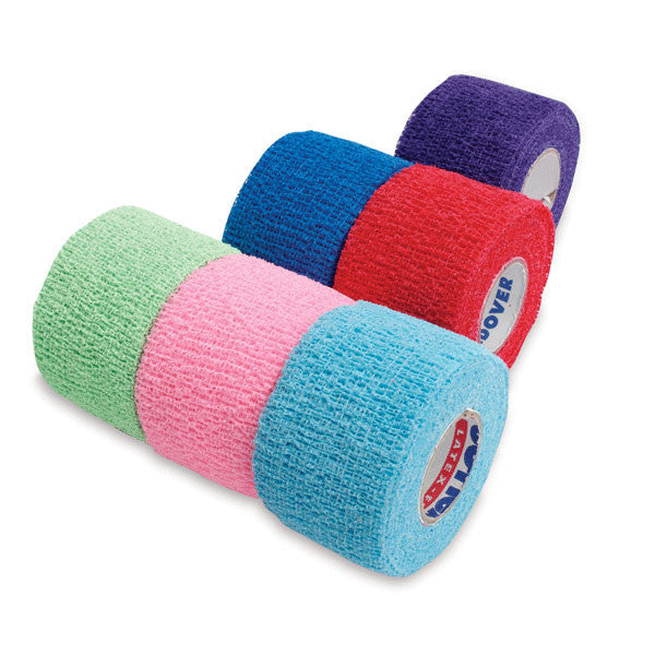 "CoFlex NL Self-Adherent Cohesive Multi-Color Bandage Roll Packs • 1.5""W • 48PK"