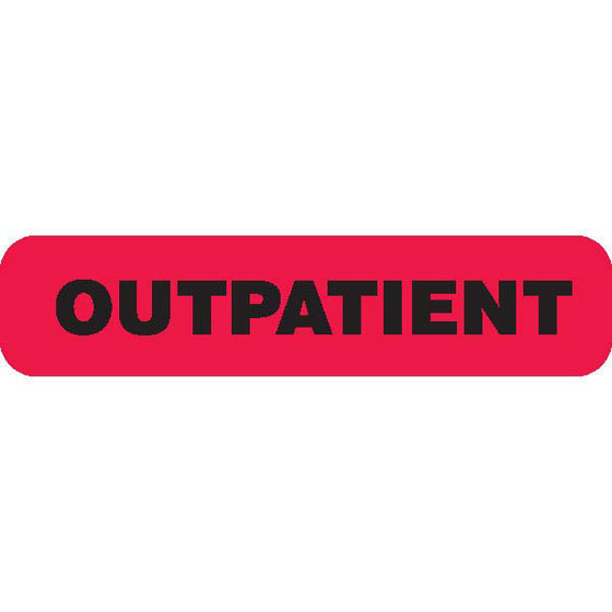"""OUTPATIENT"" Red Medical Label"