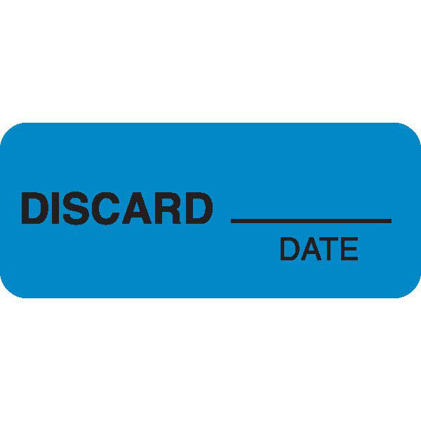 """DISCARD___"" Blue Medical Label"