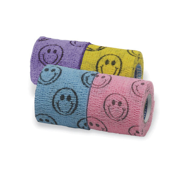 CoFlex Self-Adherent Cohesive Bandages Smiley-Face Pack
