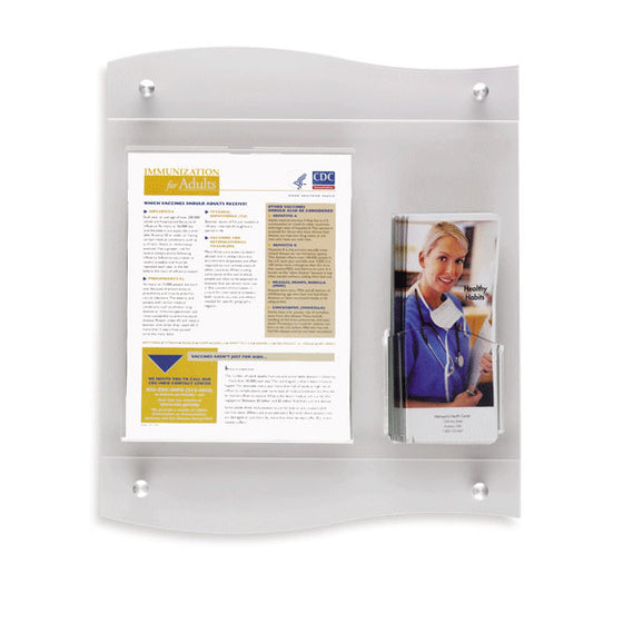 Document Frame and Brochure Holder with Frost Frame