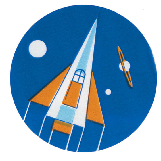 Rocket Ship Pediatric Stickers