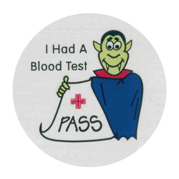 Blood Test Pediatric Stickers