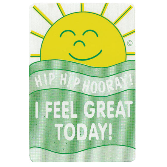 Sunshine: I Feel Great Today! Pediatric Stickers