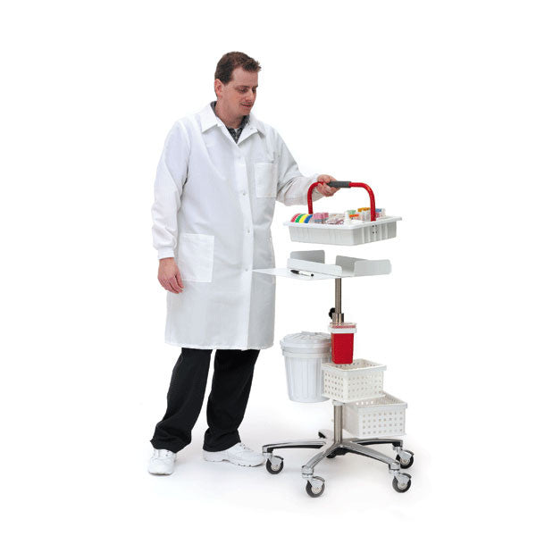 TransCart Phlebotomy Cart - Deluxe with White Phlebotomy Tray
