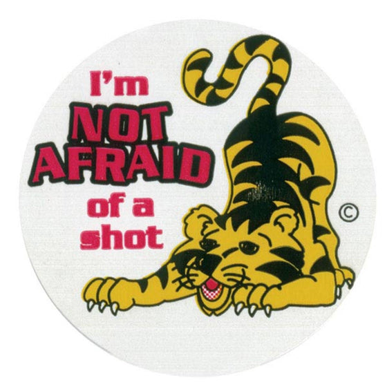 Not Afraid Pediatric Stickers