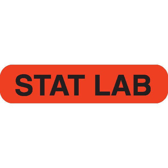 """STAT LAB"" Orange Medical Label"