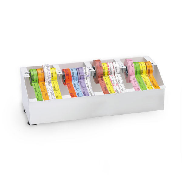 Metal Medication Label Tape Dispenser - Holds 16 Rolls