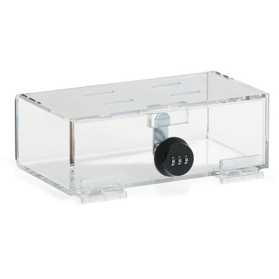 "Acrylic Combi-Cam Medication Lock Box - Compact - 8.325""W x 4.5""D x 2.875""H"
