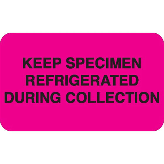 "Urine Collection Label - ""KEEP SPECIMEN REFRIGERATED DURING COLLECTION"""