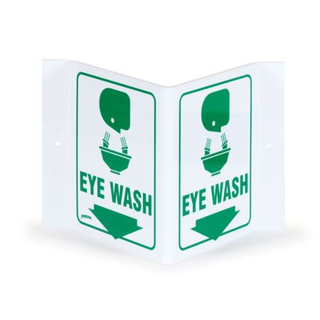 V-Shape Eye Wash Sign