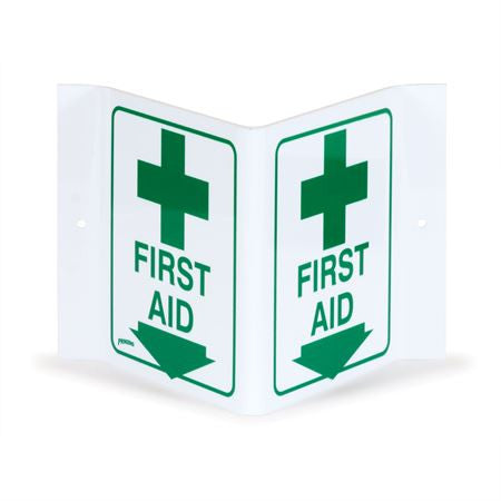 V-Shape First Aid Sign