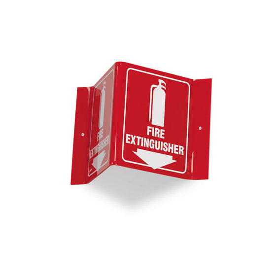 V-Shape Fire Extinguisher Sign
