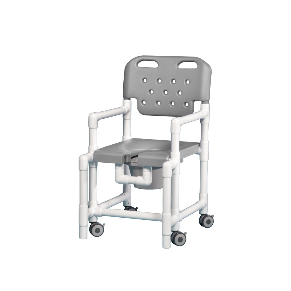 "Elite Shower Commode Anti-Tip 20"" Clearance - Gray"
