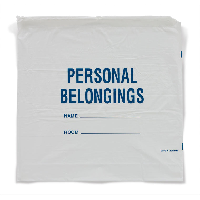 Patient Belongings Bags - White