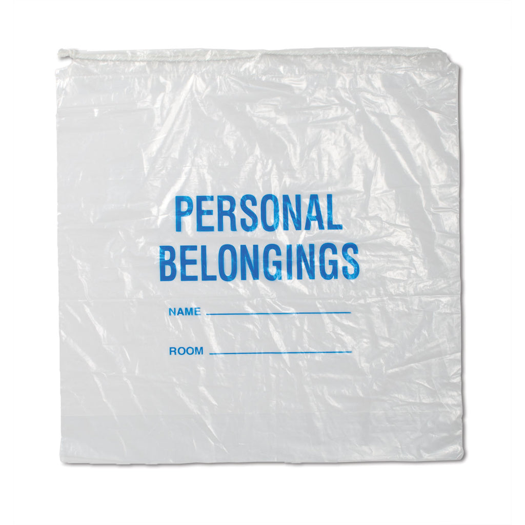 Patient Belongings Bags - Clear