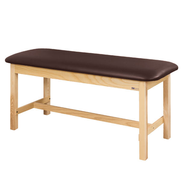 Flat Top Classic Series Straight Line Treatment Exam Table - Burgundy