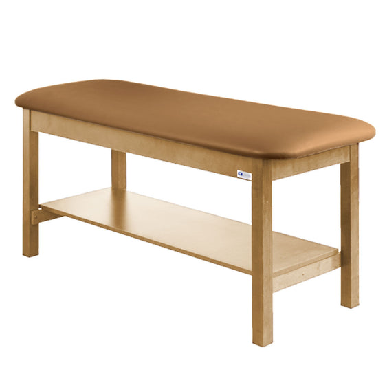 Treatment Exam Table Wooden Full Shelf Flat Top - Allspice