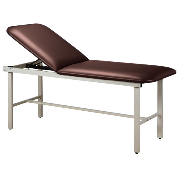 Adjustable Backrest Treatment Table with Steel Frame - Burgundy
