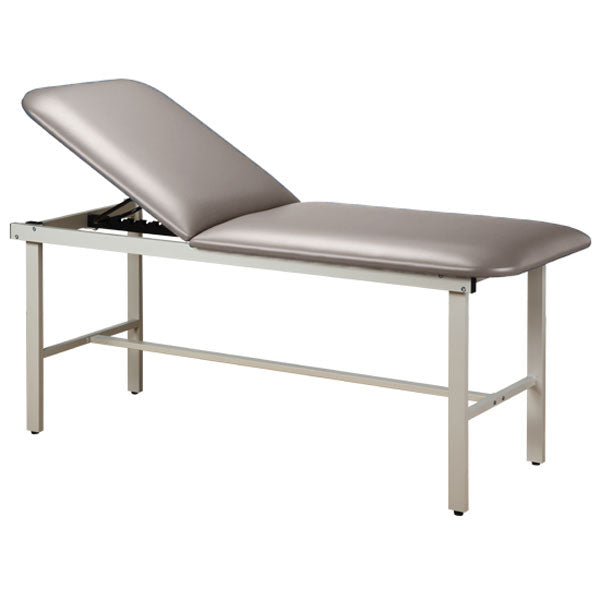 Adjustable Backrest Treatment Table with Steel Frame - Cream