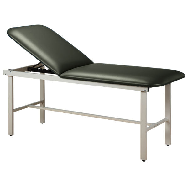 Adjustable Backrest Treatment Table with Steel Frame - Gunmetal
