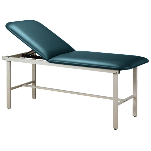 Adjustable Backrest Treatment Table with Steel Frame - Slate Blue