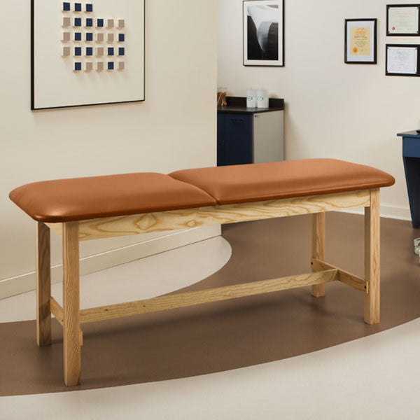 Flat Top Classic Series Treatment Exam Table with Adjustable Backrest - Allspice