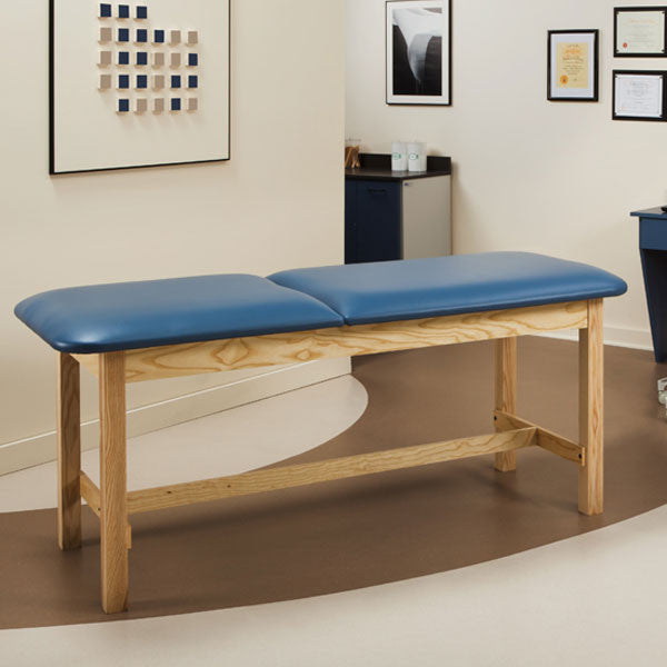 Flat Top Classic Series Treatment Exam Table with Adjustable Backrest - Wedgewood