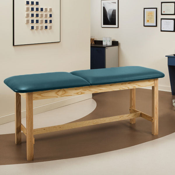 Flat Top Classic Series Treatment Exam Table with Adjustable Backrest - Slate Blue