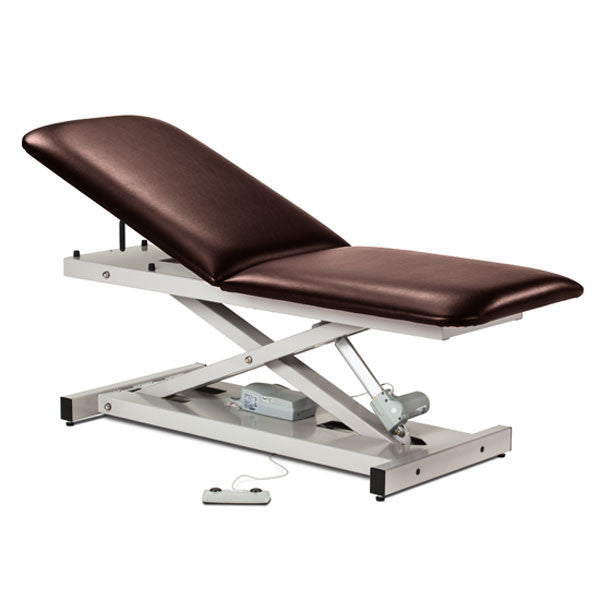 Treatment Exam Table Power Height Adjustable Backrest - Burgundy