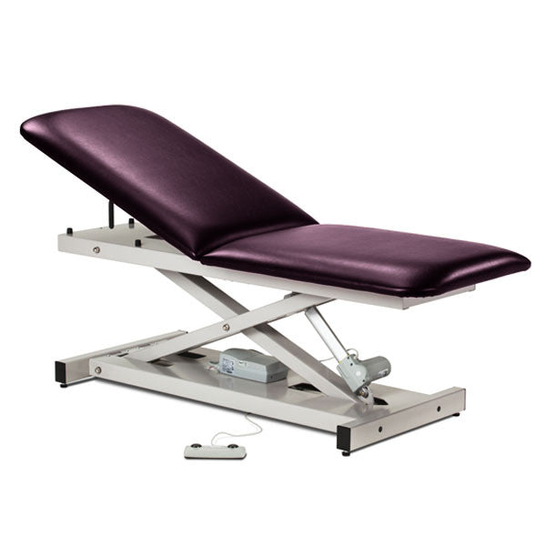 Treatment Exam Table Power Height Adjustable Backrest - Purplegray