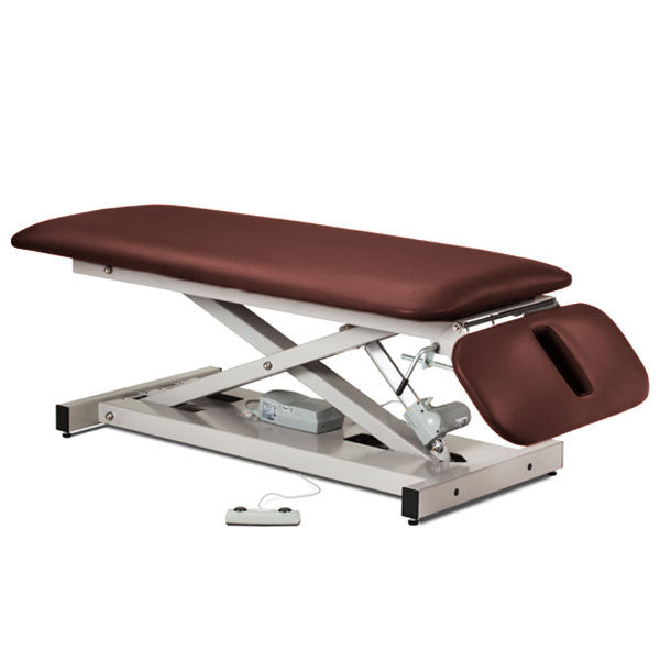 Treatment Exam Table Power Height Drop Section - Burgundy