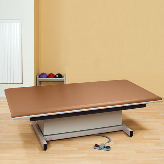 Hi-Lo Power Mat Platform Table Upholstered top 4 x 7 Allspice - Allspice