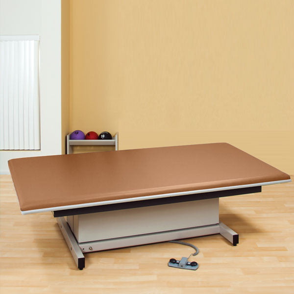 Hi-Lo Power Mat Platform Table Upholstered top 6 x 8 Allspice - Allspice