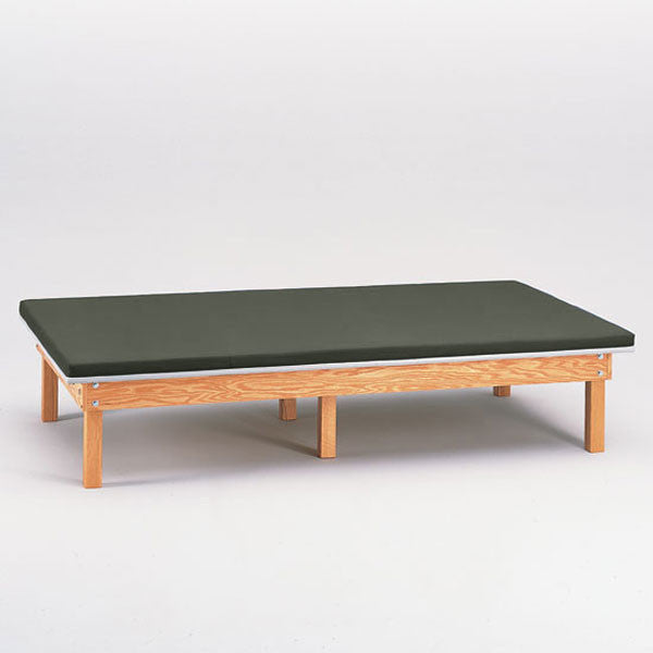Heavy Duty Upholstered Mat Platform Treatment Table 4 x 7 Gunmetal - Gunmetal