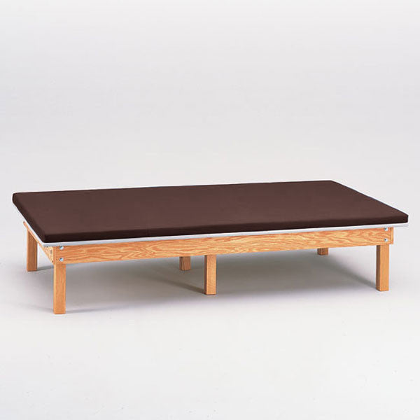 Heavy Duty Upholstered Mat Platform Treatment Table 5 x 7 Burgundy - Burgundy