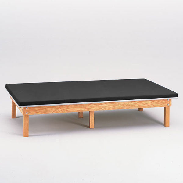 Heavy Duty Upholstered Mat Platform Treatment Table 6 x 8 Black - Black