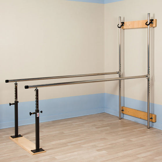 Wall Mounted Folding Parallel Bars for Physical Therapy
