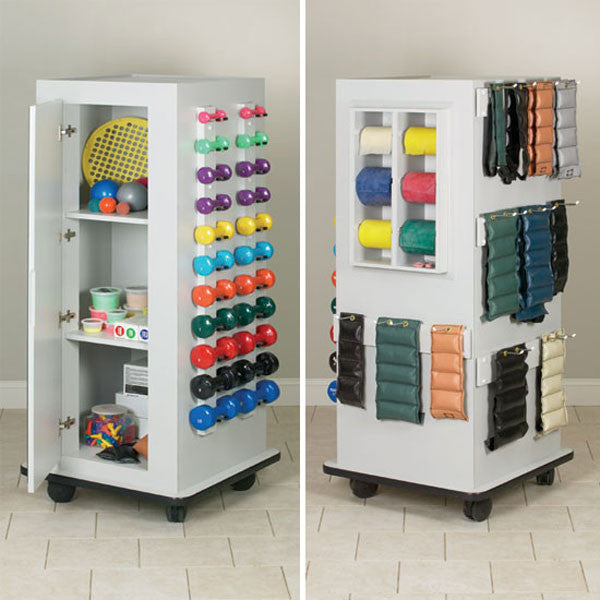 Resistance Band Dumbbell Mobile Storage with Mirror