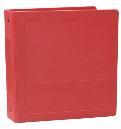 "2"" Side Open Molded Medical Ring Binder - Ruby"