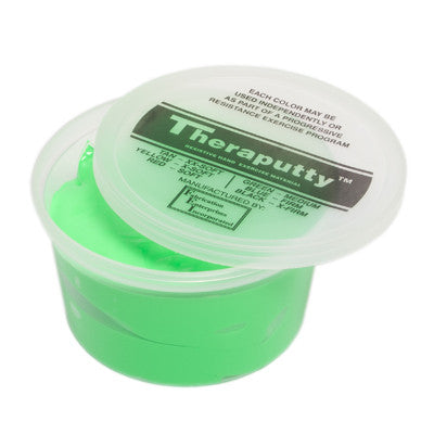 CanDo Antimicrobial Theraputty - 1 lb - Green - Medium
