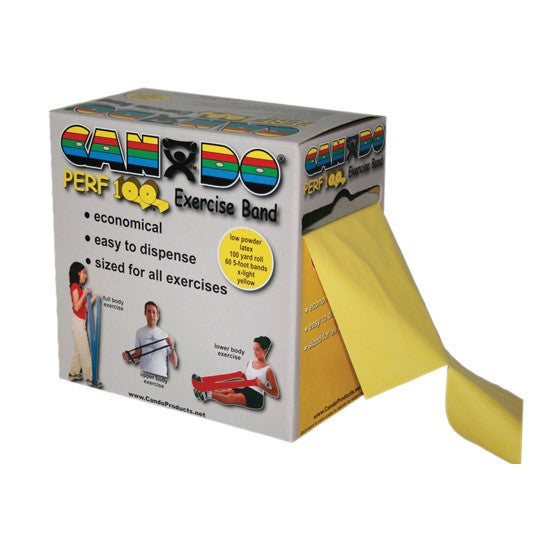 CanDo Low Powder Exercise Band with Perforations