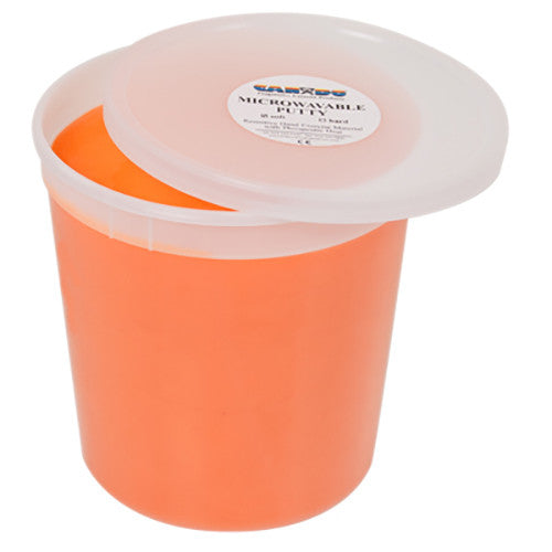 CanDo Microwave-Safe Theraputty - 5lb - Orange - Soft