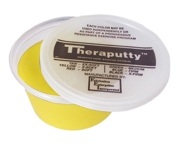 CanDo Fragrant Theraputty - 2oz - Yellow - X-soft - Banana