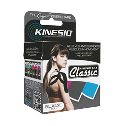 Kinesio Tex Classic Kinesiology Tape - Black