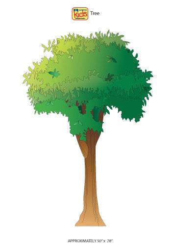 "Wall Stickers for Pediatric Exam Rooms - Tree - 50"" x 78"" -"