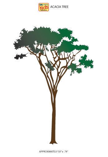 "Wall Stickers for Pediatric Exam Rooms - Acacia Tree - 50"" x 74"" -"